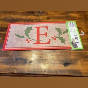 Sassafras Insert Mat Monogram with Christmas Holly
